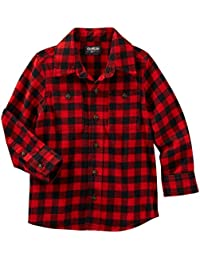 "OshKosh Little Boys' Toddler ""Drafty Barn"" Flannel Button-Down"