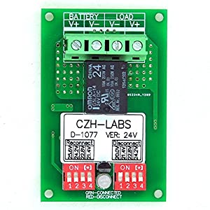 Electronics-Salon Low Voltage Disconnect Module LVD, 24V 10A, Protect/Prolong Battery Life. from Electronics-Salon