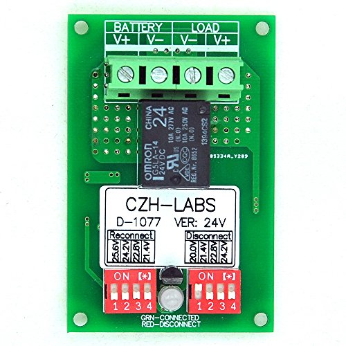 Low Power Disconnect Module - Electronics-Salon Low Voltage Disconnect Module LVD, 24V 10A, Protect/Prolong Battery Life.