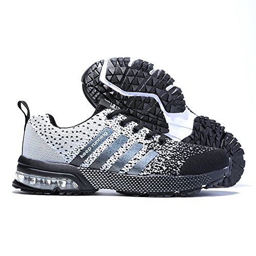 Noir Running Fitness Sport Chaussures Senbore Blanc Homme Respirantes de Tennis Sneakers Athlétique basket et 3 Courtes qwfI7I