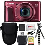Canon Power Shot SX720 HS (Red) Digital Camera Bundle Includes 32GB Memory Card + High Speed Card Reader + Extended Life replacement battery + Point & Shoot case + HDMI Cable & More!