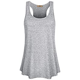 Miusey Womens Sleeveless Loose Fit Workout Yoga Racerback Tank Top