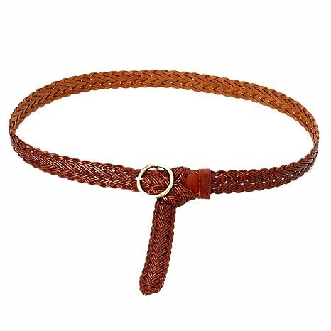 Styhatbag Cinturón de Mujer para Mujer La Correa Trenzada Flaca de la  Cintura de Las Mujeres e538551dc242