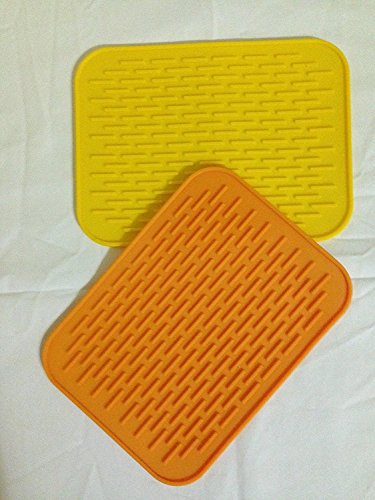 SOLD OUT - Silicone Heat Resistant Pads (2-Piece Set) - Heat Resistant, Non-Slip Pot Holders, Dishes, Pots, Pans and Kitchen Utensils - Protects Counters & Tables