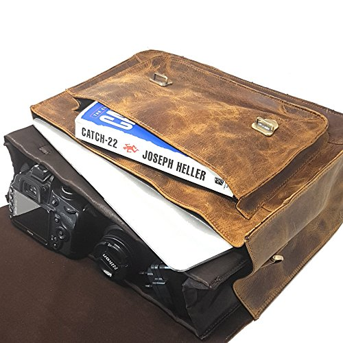 43c9a2dceb12 Purple Relic Leather Dslr Camera Bag 15.6-inch Laptop Briefcase  Shoulder  ...