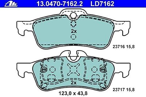 ATE 13047071622 Bremsbelagsatz Scheibenbremse ATE Ceramic