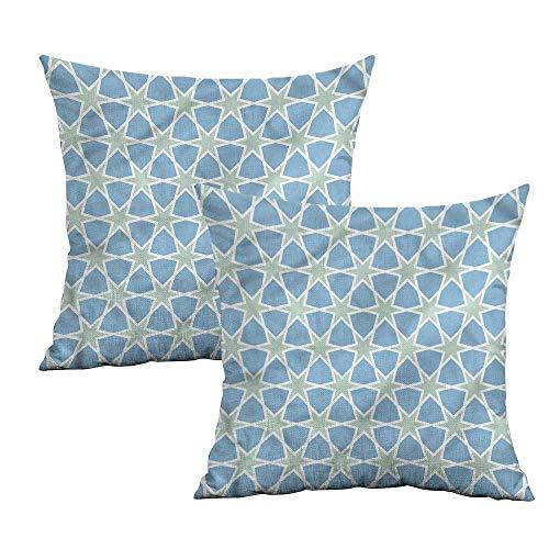 (Khaki home Moroccan Square Kids Pillowcase Mosaic Roman Stars Square Funny Pillowcase Cushion Cases Pillowcases for Sofa Bedroom Car W 16