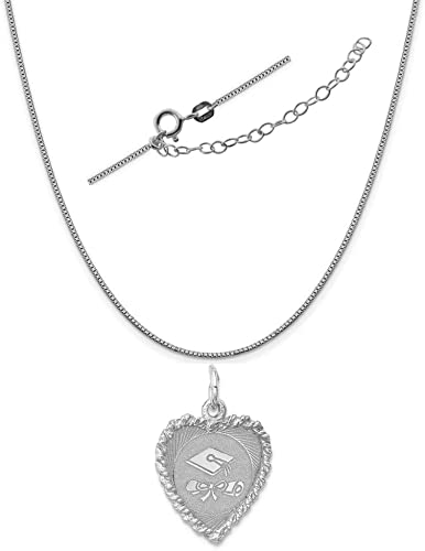 18 LavaFashion Sterling Silver Stork Disc Charm Necklace