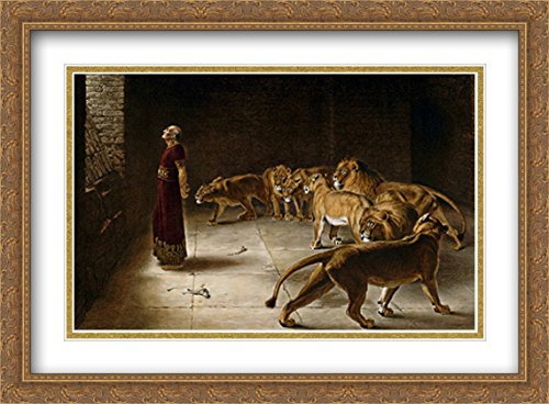 Daniel's Answer to The King 2X Matted 38x28 Large Gold Ornate Framed Art Print by Briton Riviere