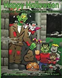 img - for Happy Halloween A Coloring Book for Adults Who Love Halloween book / textbook / text book