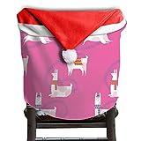Llama Animal Christmas Chair Covers Sleek Not Fade Chair Covers For Christmas For Husbands Christmas Chair Back Covers Holiday Festive