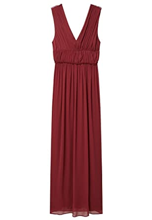 Mango - Robe - Cocktail - Femme rouge bordeaux Small - rouge - Small ... 731258526f3a