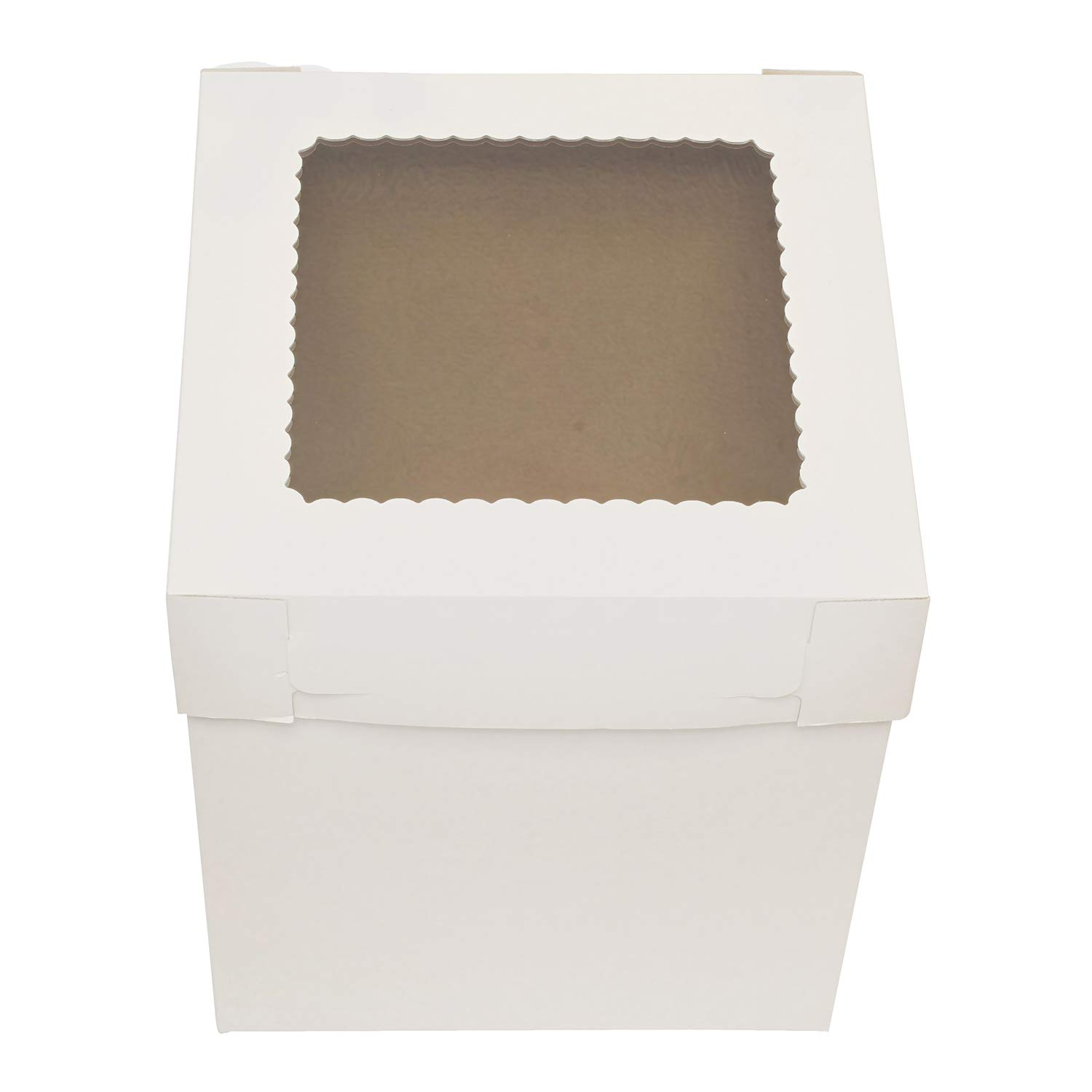 SpecialT Cake Boxes with Window 25pk 12'' x 12'' x 8'' Inch White Bakery Boxes, Disposable Cake Containers, Dessert Boxes by SpecialT (Image #5)