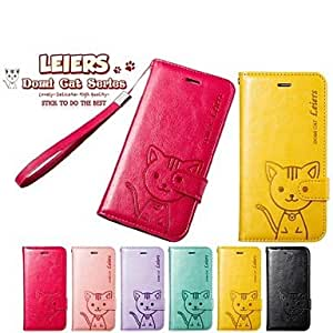 ZXSPACE Domi Cat PU Leather Full Body Case With Card Slot with Stand and Strap for iPhone 6 (Assortde Color) , Rose