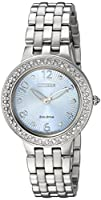 Citizen Women's 'Eco-Drive' Quartz Stainless Steel Casual Watch, Color:Silver-Toned (Model: FE2080-56L)