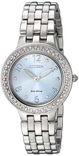 Citizen Women's Eco-Drive Stainless Steel Crystal Accented Watch, FE2080-56L (56l Watch)