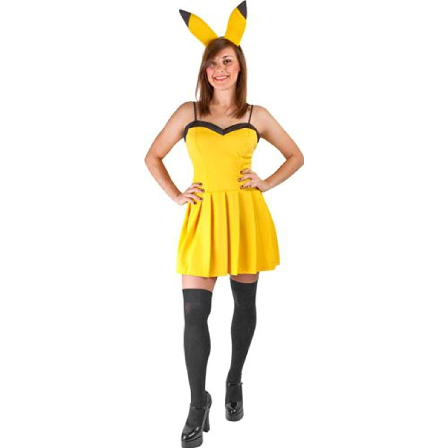 Amazon.com: Women's Sexy Pikachu Halloween Costume (Size: Small 6 ...