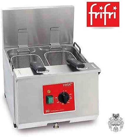 Frifri frita + 8 9L 6,9 kW 400 V eléctrico de acero inoxidable de ...