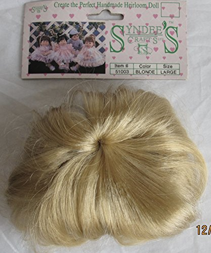 SYNDEE'S Craft DOLL HAIR WIG Style #51003 Fits Size LARGE Color BLONDE Synthetic HAIR (1990) -