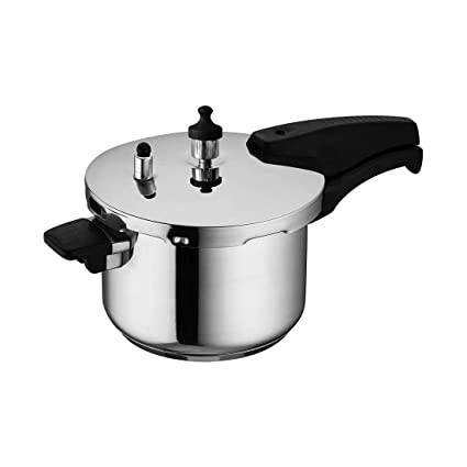 Wonderchef Secura 4 Stainless Steel Pressure Cooker, 3 litres, Silver