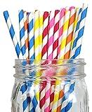 Just-Artifacts-Decorative-Paper-Straws-100pcs-Striped