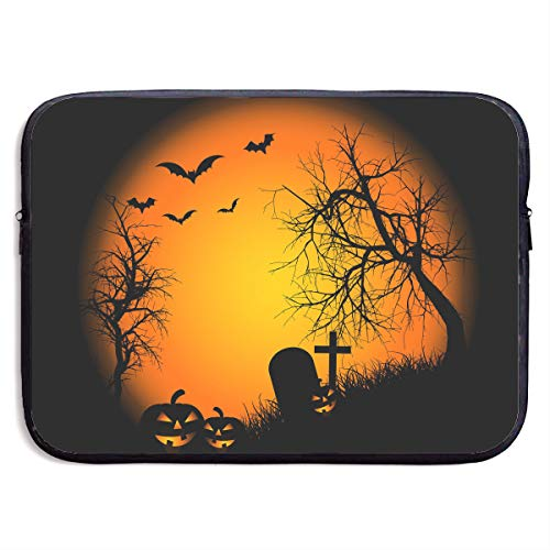 Teesofun Business Briefcase Sleeve Happy Halloween Bat Pumpkin Portable Laptop Protective Bag Linner for MacBook Pro/MacBook Air/Asus/Dell ()
