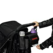 Stroller Organize Bag, Fits All Baby Strollers, with Shoulder Strap, Storage Space for Bottles, Tissue, Phones, Wallets, Diapers, Books, Toys, Keys, Sunglasses, Clothes