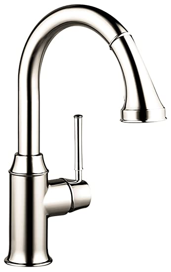 Hansgrohe 04215 Talis C High-Arc Pull-Down Kitchen Faucet with ...