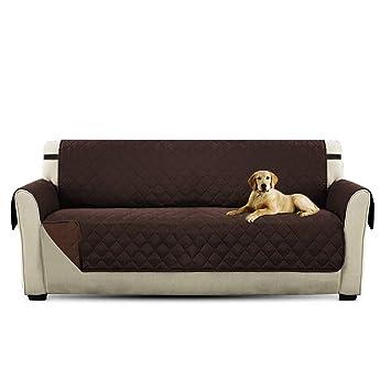 PETCUTE Lujo Cubre para Silla Fundas de Sofa Protector de sofá o Sillón, Dos o Tres Plazas Marrón: Amazon.es: Hogar