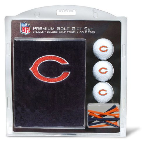 637556305206 - NFL Chicago Bears Embroidered Golf Towel, 3 Golf Ball, and Golf Tee Set carousel main 0