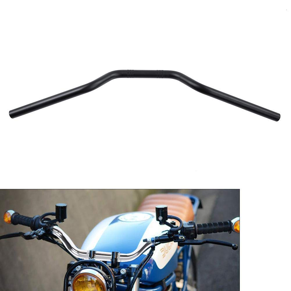 Black Universal 7//8 22mm Motorcycle Black//Chrome Tracker Handlebars Drag Bar Replacement Part Motorcycle Handlebar