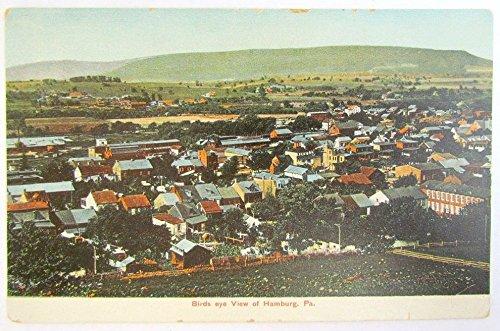Birdseye View Postcard (ANTIQUE POSTCARD BIRDS EYE VIEW OF HAMBURG PA)