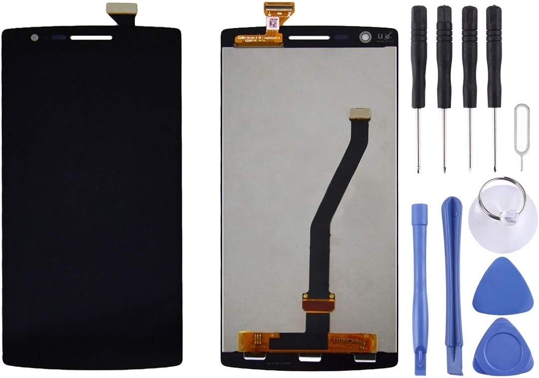 Black Touch Panel for OnePlus One Color : Black Timemall Digital Mobile Phone Replacement LCD Screen+ Touch Screen LCD Display