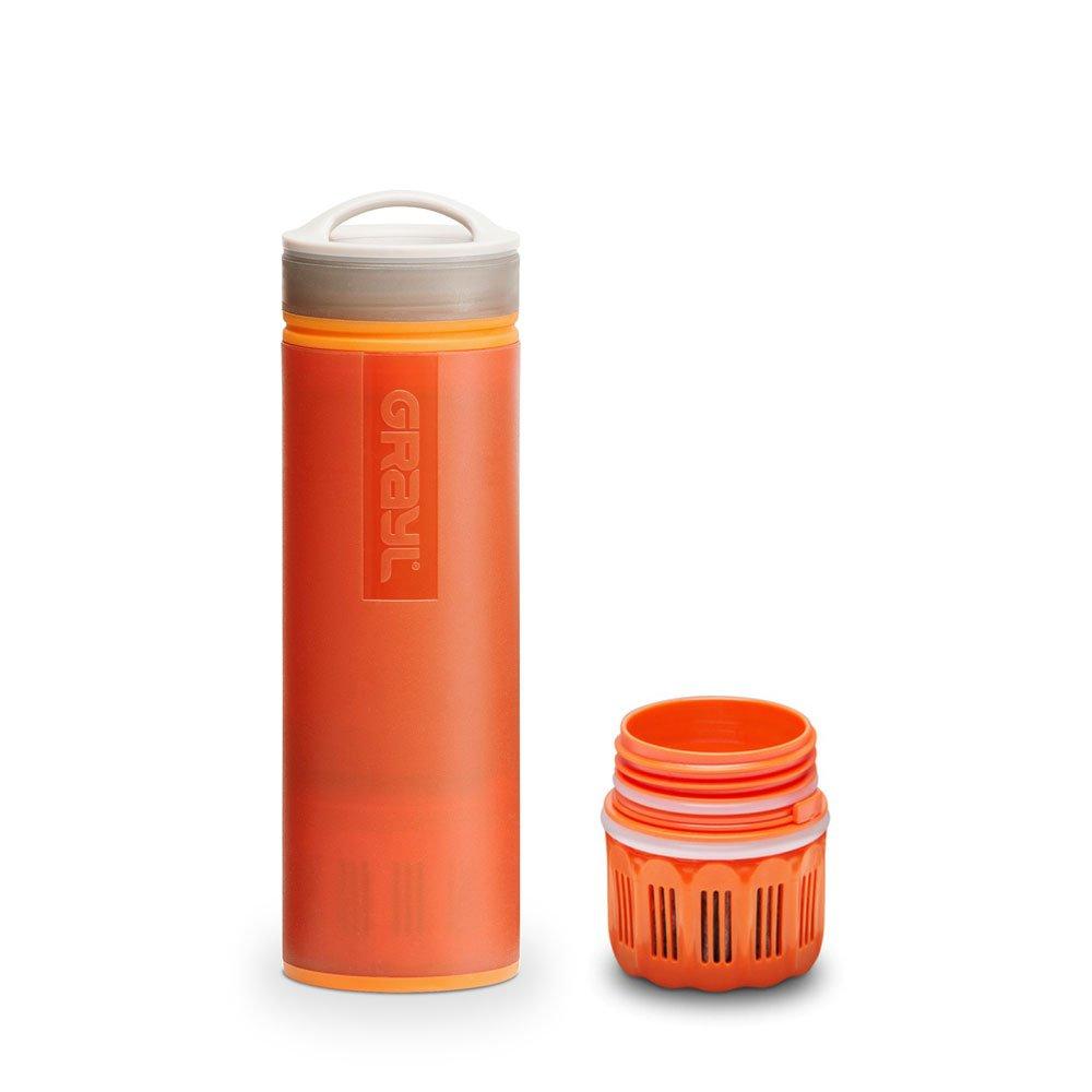 graul Ultralight Outdoor- & Reise- Wasserfilter Orange mit Ersatzfilter