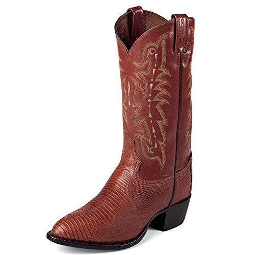 Tony Lama Mens Felton Pinda Broos 13 Hoogte (cz812) | Voet Pinda Brosse Hagedis | Pullon Westernlaarzen | Cognac / Peanut Broze Cowboy Lederen Laars | Handgemaakt In De Vs.