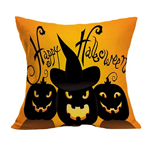 Gotd Halloween Decorations Decor Halloween Throw Pillow Case Sofa Waist Throw Cushion Cover Home Decor Square 45cm x 45cm 18inch x 18inch (#2)]()