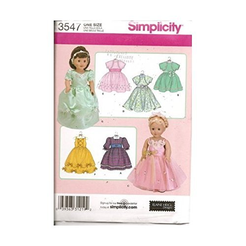 Inch Patterns 18 Doll Costume Halloween (Simplicity 18