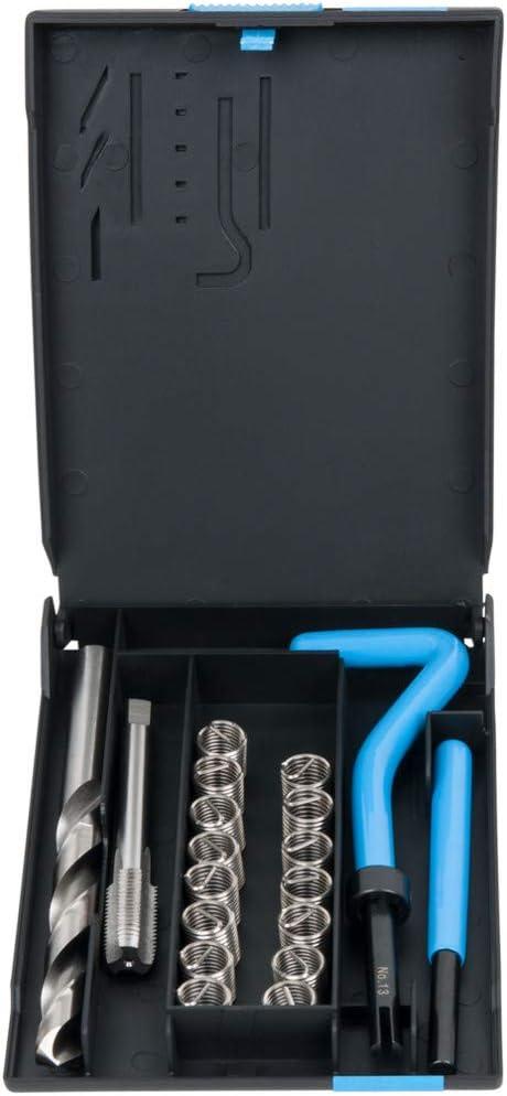 15 St/ücke Gewindereparatursatz Metrisch M14x1,5mm Edelstahl Gewinde Reparatureinsatz Kit Spiralbohrer Inbusschl/üssel Handwerkzeuge f/ür Besch/ädigte Gewinde Reparatur