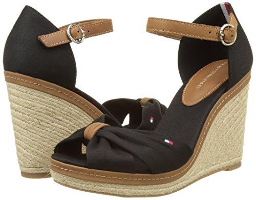Sandales Compensées E1285lena 56d Noir 990 Tommy Femme Hilfiger black qa1Hvvt
