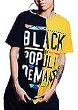 Qikaka Womens Sexy Shorts Sleeve O Neck Paneled Hip Hop Printed Casual Tops T-Shirts Shirts
