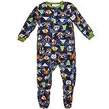 Toddler Boy's 4T Woodland Forest Animals Print Fleece Footed Pajama Sleeper