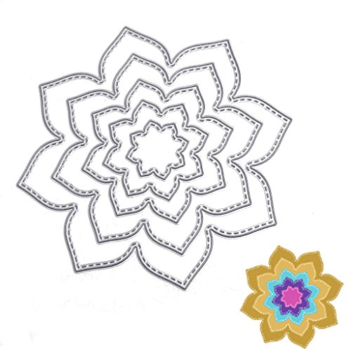 SCASTOE Petals Cutting Dies Stencil DIY Paper Craft Card Making Scrapbooking Album