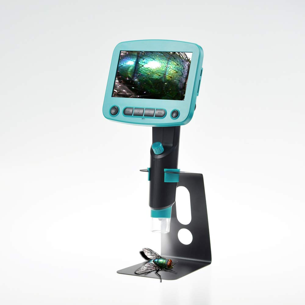 800x 4.3 Inch LCD Display Digital Microscope High Brightness 8 LEDs Portable USB Microscopes Soldering Mikroskop Magnifier US Plug, 800X