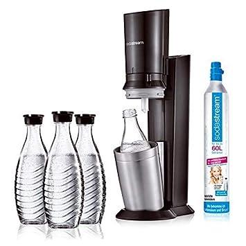 Sodastream Crystal 2 0 Aktionspack Wassersprudler Titan Inkl 3 Glasflaschen