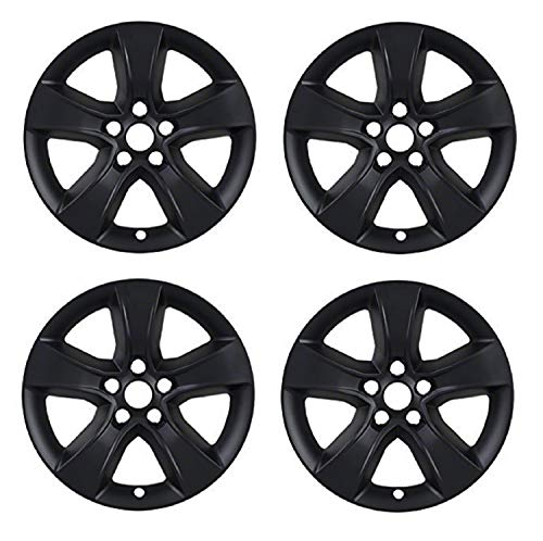 Coast2Coast IWCIMP352BLK Set of 4 Gloss Black Wheel Skin with Spoke for 08-14 Dodge Charger (Dodge Rim Covers)