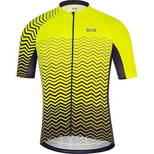 GORE WEAR C3 Men's Cycling Short Sleeve Shirt, XL, Neon Yellow/Black
