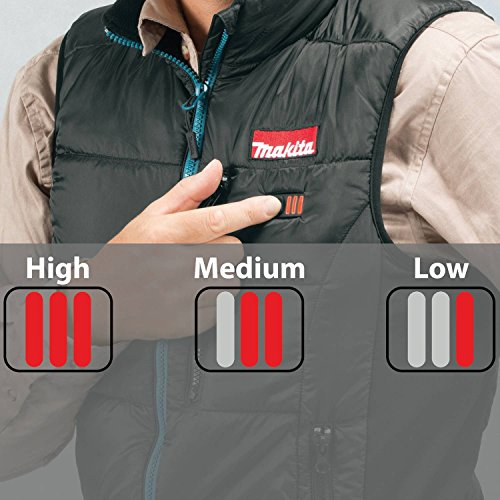 Makita DCV200ZL 18V LXT Lithium-Ion Cordless Heated Vest Only, Large, Black by Makita (Image #5)