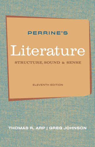 Book cover from Perrines Literature: Structure, Sound, and Sense, 11th Edition by Thomas R. Arp