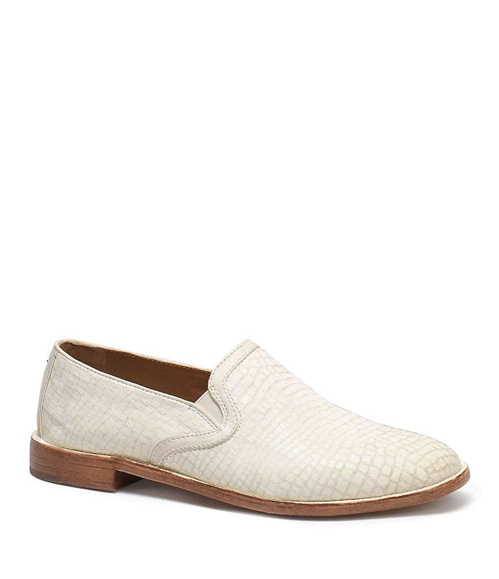 White Croc Trask Womens Ali Round Toe Loafers