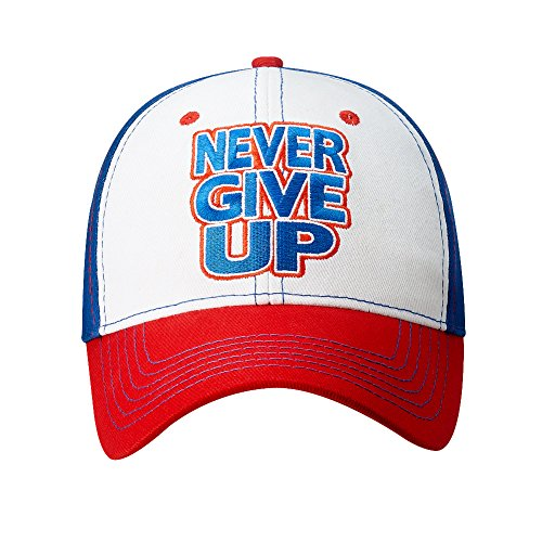 John Cena Authentic Red White Blue Never Give Up Hat One Size
